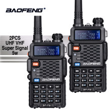 2PCS Baofeng BF-F8+ UHF/VHF Walkie Talkie 10KM With PTT Earphone Portable Handheld Hotel CB Car Radio Station Ham HF Transceiver(China)
