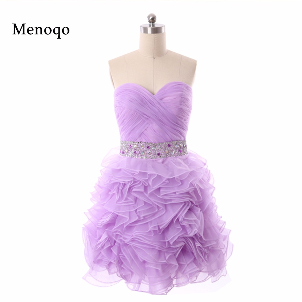 Above Knee Sweetheart Beaded Organza Short Homecoming Dresses Real Model Women Mini Cocktail Dress Christmas Party Made In China