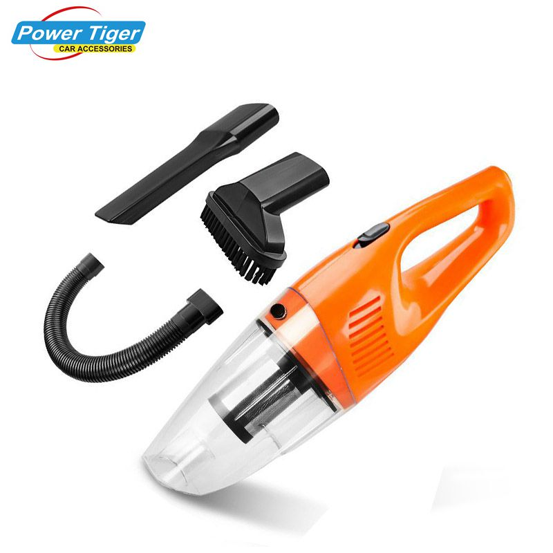 12V 120W Portable Car Vacuum Cleaner Wet&Dry Dual Use Handheld Auto Car Cleaning Tool with Long Power Cord HEPA Filter