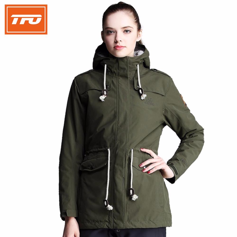 Prix pour Tfo randonnée veste pour femmes coupe-vent en plein air veste polaire doublure imperméable de sport pour le camping randonnée 6641405