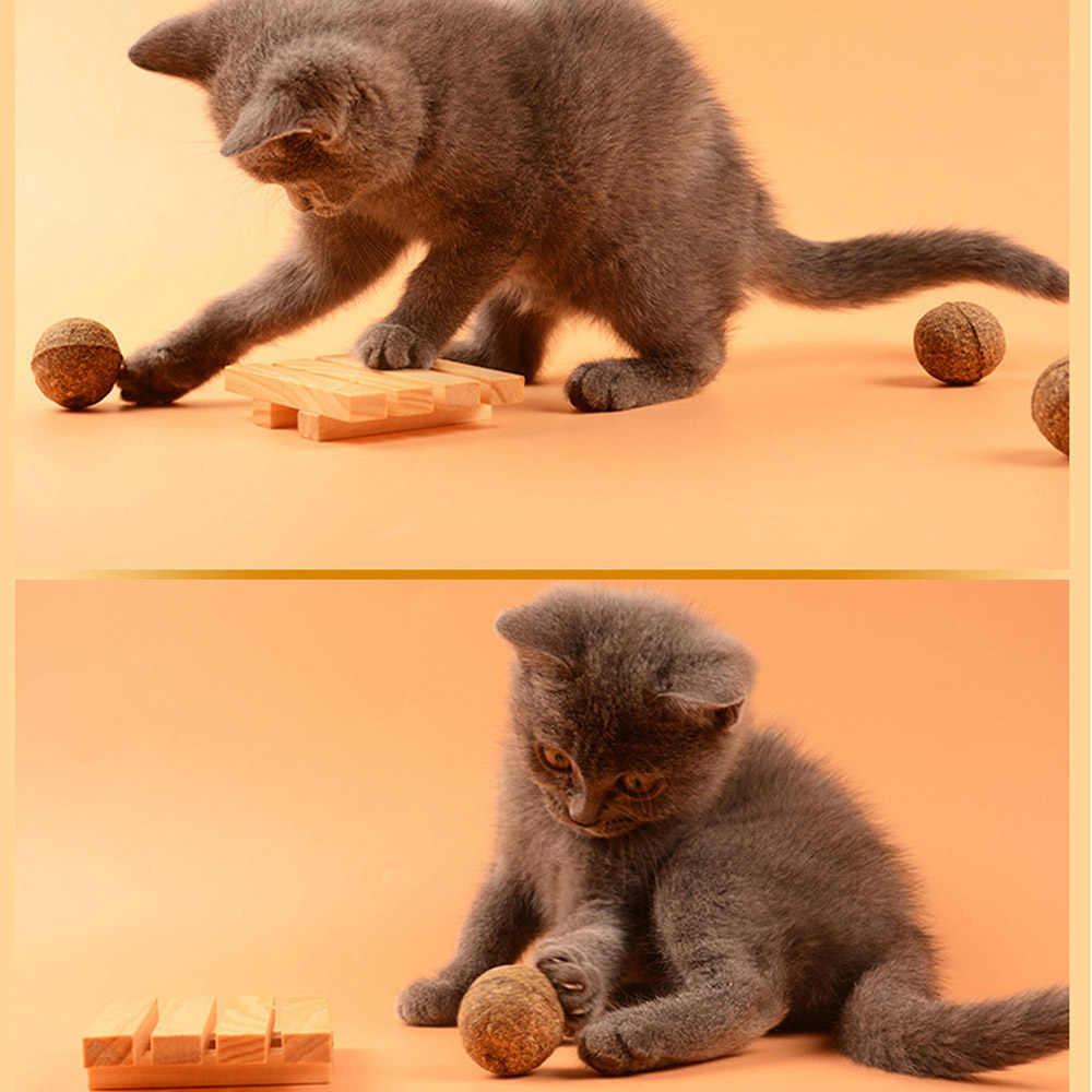 Pet Gato Catnip Naturais Bola Deleite Casa Favor Perseguir Brinquedos Tratamento Comestível Saudável Seguro