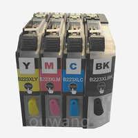 Cartucho de tinta recarregáveis para o irmão J562DW lc225 LC223 J480DW J680DW J880DW 4120DW J4420DW J4620 J4625DW impressora com ARC chip