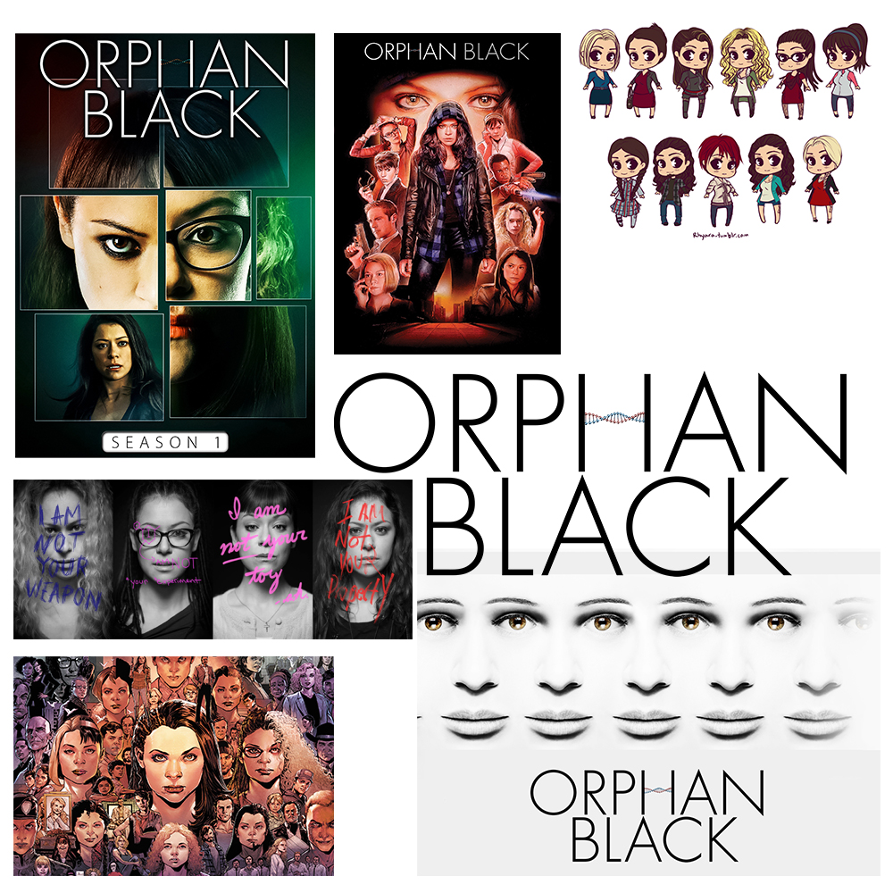 Orphan Black tv poster Vintage Retro movie Antique Poster Wall Sticker Home Decora
