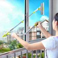 Hot Upgraded Telescopic High rise Window Cleaning Glass Cleaner Brush For Washing Window Dust Brush Household cleaning tools