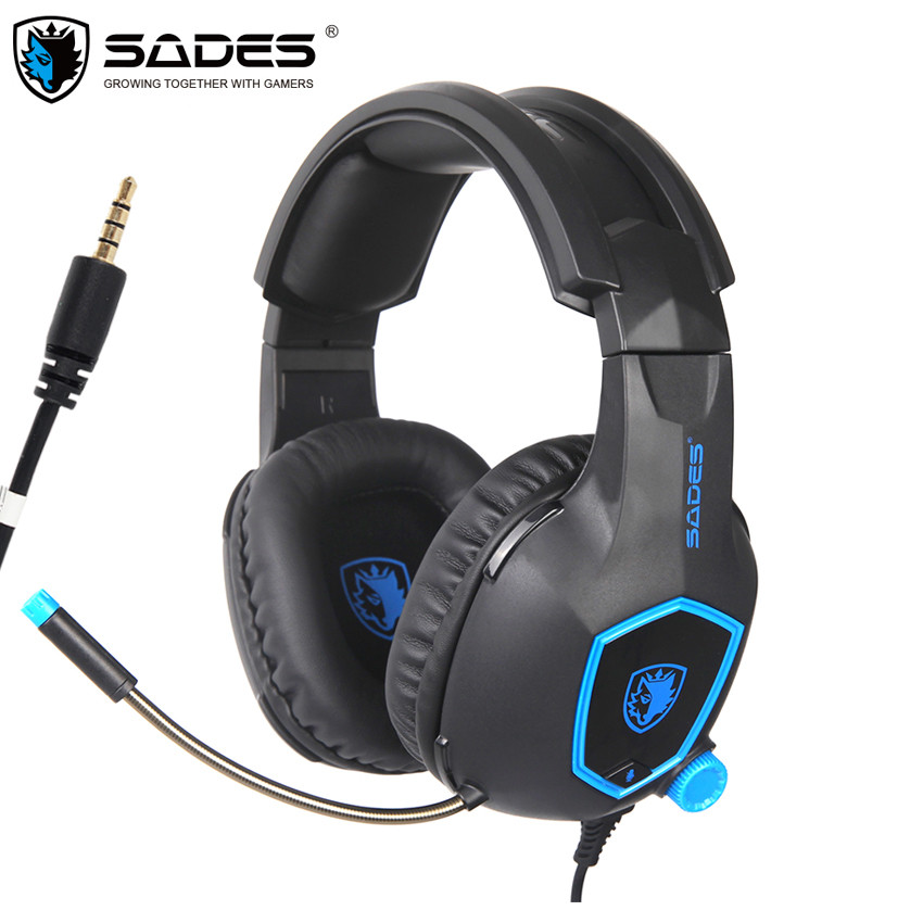 SADES SA818 PS4 Gaming Headset Casque PC Gamer Headphones with Microphone for New Xbox One Controller Laptop Mobile Phone