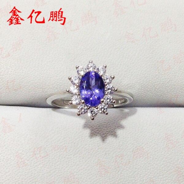 Здесь продается  925 silver with natural Tanzania stone ring female Section 5 x7 mm fashion princess Diana Valentine