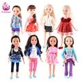 "2016 NOVOS Modelos de 8 18 ""loira/marrom cabelo 45 cm menina realista boneca baby toys presente de aniversário para as meninas como bonecas american girl"