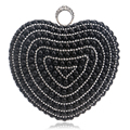 Finger Ring Diamonds Heart Design Purse Evening Bags Gold/Silver/Black Imitation Pearl Wedding Bags With Chain Shoulder bag