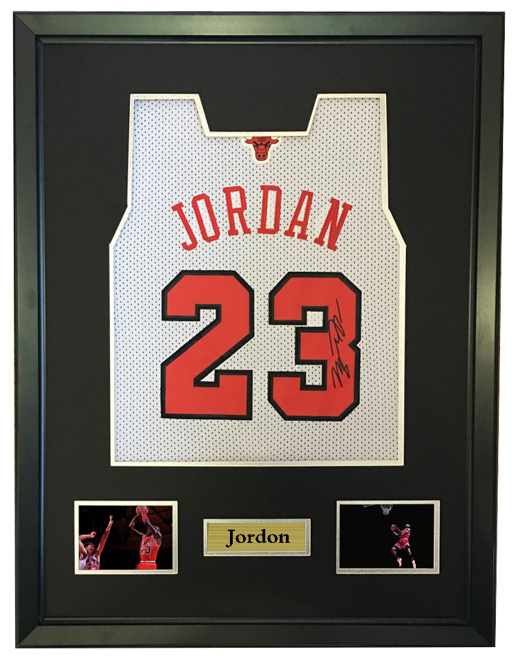 cheaper 56966 c8406 US $1800.0 |Michael Jordan signed autographed basketball shirt jersey come  with Sa coa framed Bulls-in Frame from Home & Garden on Aliexpress.com | ...