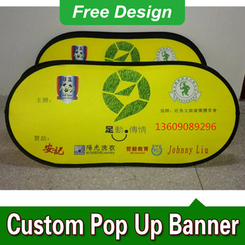 Free Design Free Shipping Horizontal A Frame Banner Outdoor Pop Up Banners Pop Up Sideline Banners