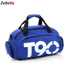 Купить с кэшбэком Zebella Men Travel Bags Black Men Women Shoulder Bags Portable Nylon Waterproof Handbags Large Capacity Sports Shoes Bag For Gym