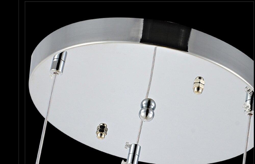 Ristorante lampadario tre lampada di cristallo semplice e moderno