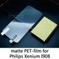 Brillante clear lucent esmerilado mate antideslumbrante de la película protectora de cristal templado film protector de pantalla para philips xenium i908