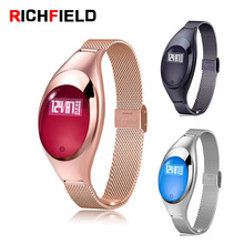 Купить с кэшбэком RICHFIELD Women Smart Bracelet Z18 Smart Watch Pedometer sport band Heart Rate Blood Oxygen Fitness Tracker fitness bracelet