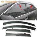 Stylingg Toldos Abrigos 4 pçs/lote Viseiras Da Janela do carro Para Toyota Camry 2007-2016 Sol Chuva Escudo Adesivos Covers
