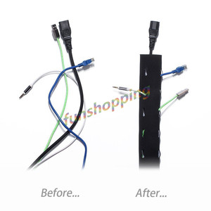Image 5 - 1/2/4 pièces 1.2 m câble gestion manchon Flexible néoprène gaine de câble fil cordon couverture organisateur système pour PC TV téléphones câble ligne