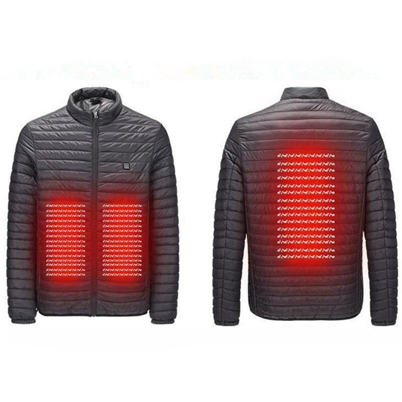 Winter Outdoor USB Infrared Heating Jacket Men Women Hiking Electric Thermal Sports Climbing Hiking Coat Skiing