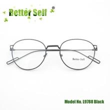 Better Self L9788 Cat Glasses Frames Women Metal Eyewear Vintage Retro Spectacles Clear Lens Ultra Light Eyeglasses цена