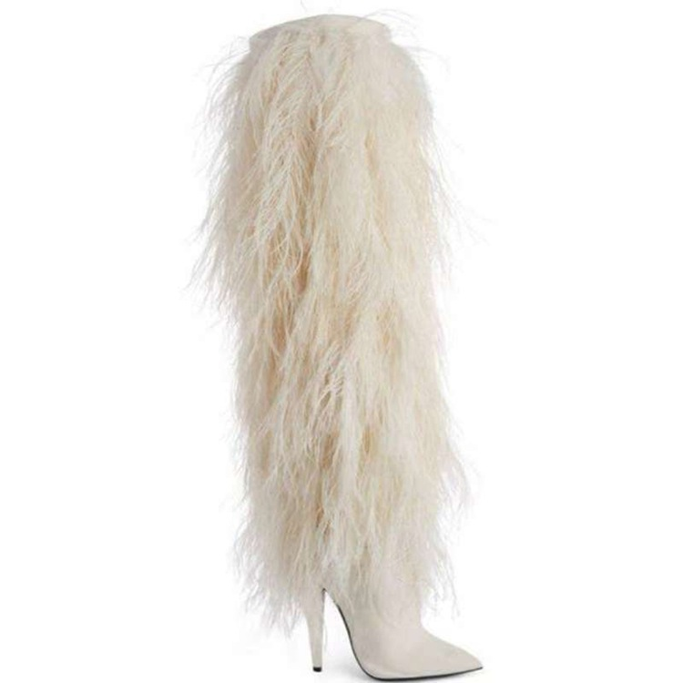Women Knee High Fringe Boots Womens Black/White High Heels Stage Tall Boots Brand Fashion Women Motorcycle Tassel Boots DropshipWomen Knee High Fringe Boots Womens Black/White High Heels Stage Tall Boots Brand Fashion Women Motorcycle Tassel Boots Dropship