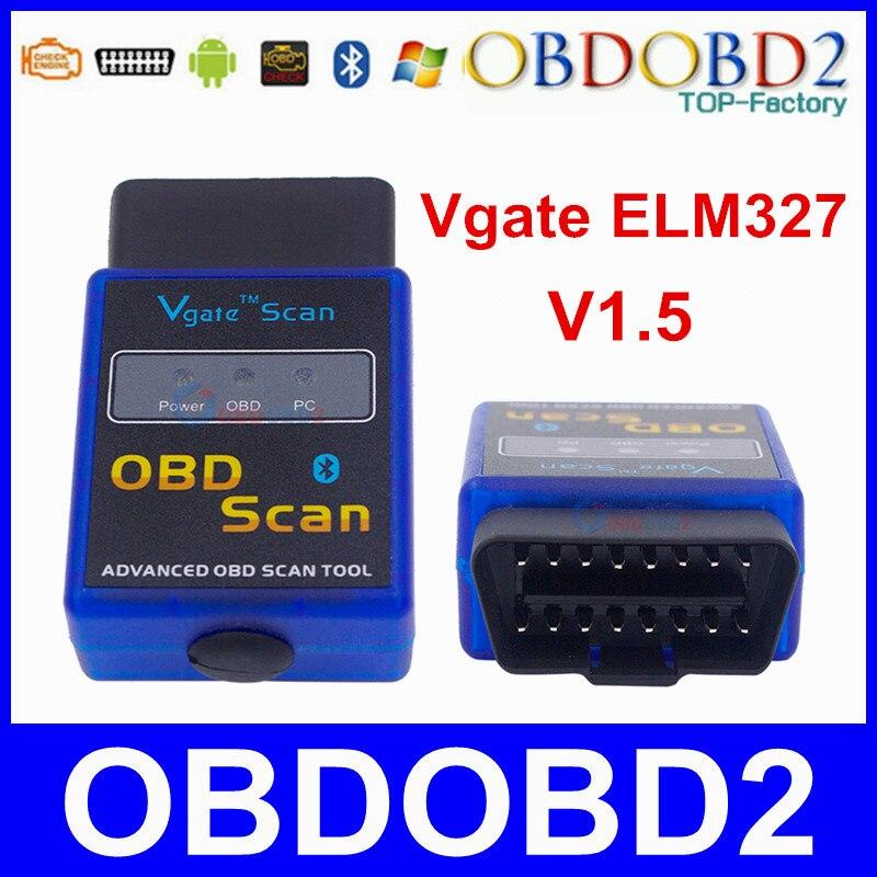 Prix pour Meilleur Qualité Vgate EM327 Bluetooth V1.5 OBD2 Scanner ELM 327 pour Android Prend En Charge Tous Les Protocoles OBDII 3 Ans de Garantie Livraison le bateau
