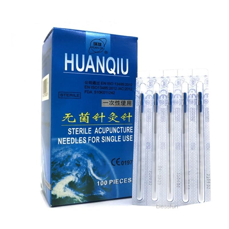 NOVO fim flush com Tubo Agulhas Huanqiu Acupuntura Agulha Estéril (CE FDA) escolher o TAMANHO