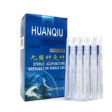 NEW Huanqiu Sterile Acupuncture Needle flush end with Tube Needles(CE FDA) choose SIZE