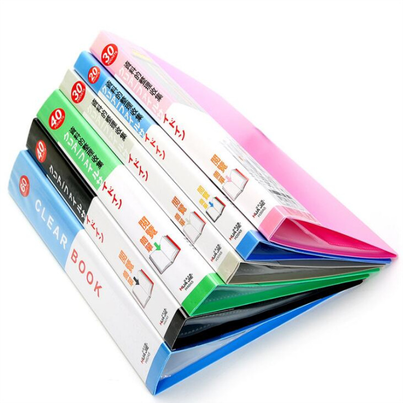 A5 30 Pages Plastic File List Booklet Insert Folder School Business Office Supplies Folder Plastic Storage Documents Paper Clip