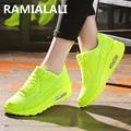 2017 Zapatos de Los Hombres Zapatos Para Correr Deporte Entrenadores zapatos Air Zapatos Amantes Superestrellas de Malla Cesta Tenis Chaussure Homme Casual Masculino