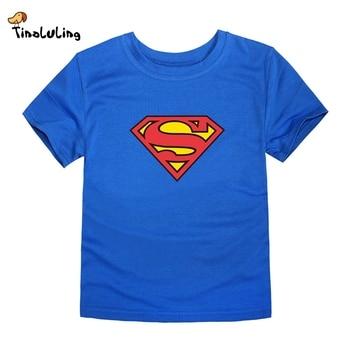 TINOLULING 2018 Kids Superman T-Shirt Boys Girls Batman T Shirt Children Tops Baby Tees For 2-14 Years