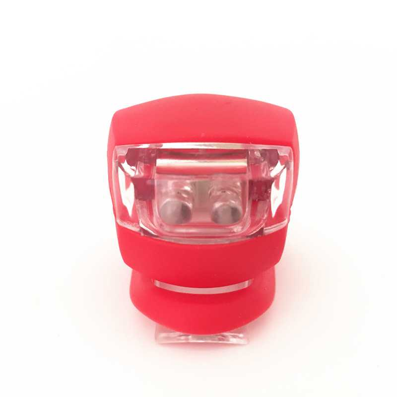 Silicone Bike Bicycle Cycling Head Front Rear Tail LED Flash Light Lamp
