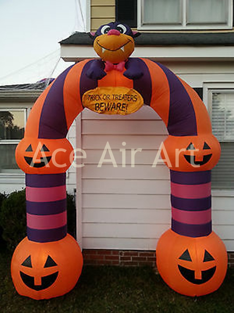 Outdoor inflatable halloween decorations - Halloween Funny Party Decoration Inflatable Pumpkin Archway For Entering Door China Mainland