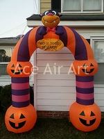 Halloween funny party decoration inflatable pumpkin archway for entering door