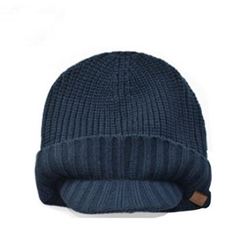 3a777a45d4e ALLKPOPER High Quality Men s Autumn And Winter Warm Wool Knitted Hats Brim  Outside Ear Protection Knit Skiing Beanies-in Skullies   Beanies from  Women s ...