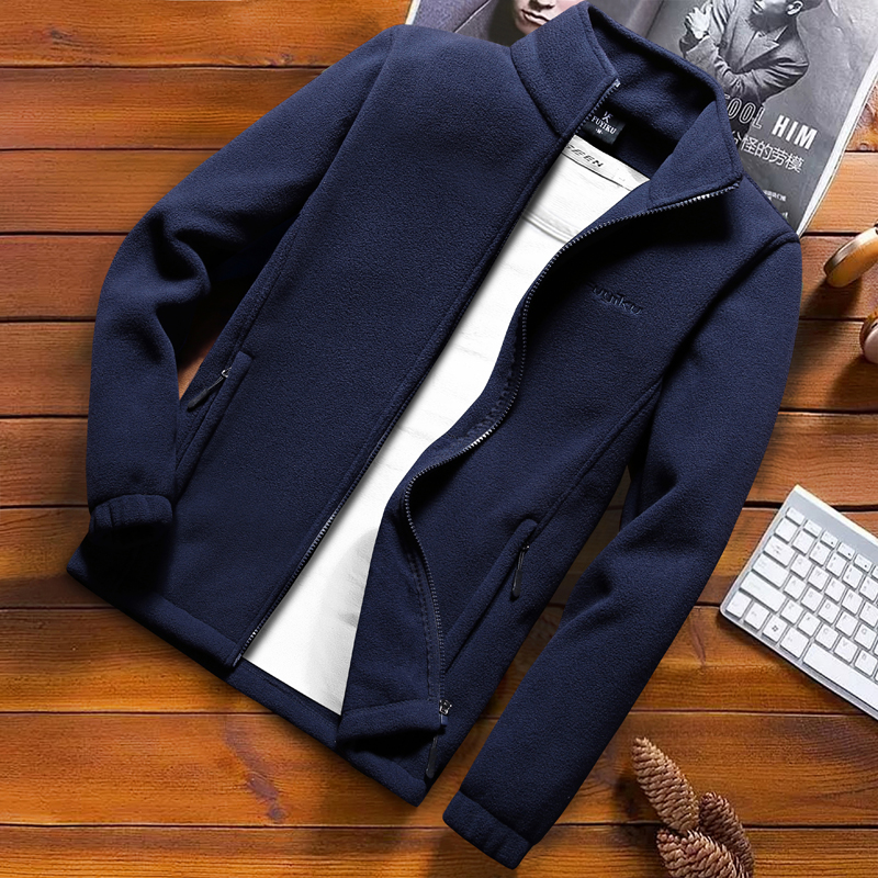 Image 3 - Fashion Mens Spring Jacket 2020 Autumn Stand Collar Homme Casual Jacket Men Thermal Fleece Male Coat Plus Size 6XL 7XL 8XL 9XLJackets   -