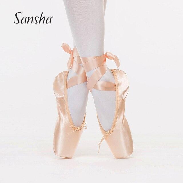Pratica di Danza Scarpe da Punta Sansha Raso di Alta Qualità Per Danza  Classica Per Adulti 8c51b1fda840