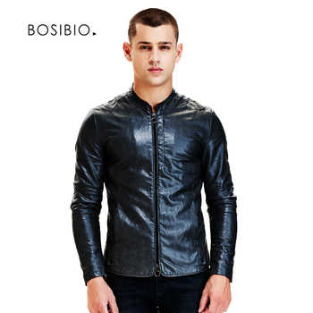 New Spring Autumn Slim Fit PU Leather Jackets Fashion Black Motorcycle Leather Jackets Male Casual Coats High Quality 9207