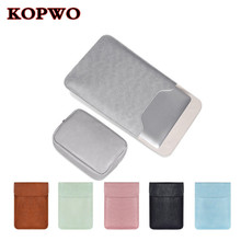 KOPWO Ultrathin Pu Leather Laptop Sleeve Case for Apple Macbook Air Pro Huawei 13 14 15 Inch Notebook Inner Protective Bag Cover