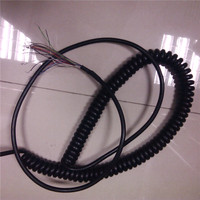21 Cores 3 Meters Spring Spiral Cable For CNC Handheld Encoder Manual Pulse Generator