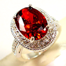 Rings for women Engagement ring set costume jewelry Ruby rin