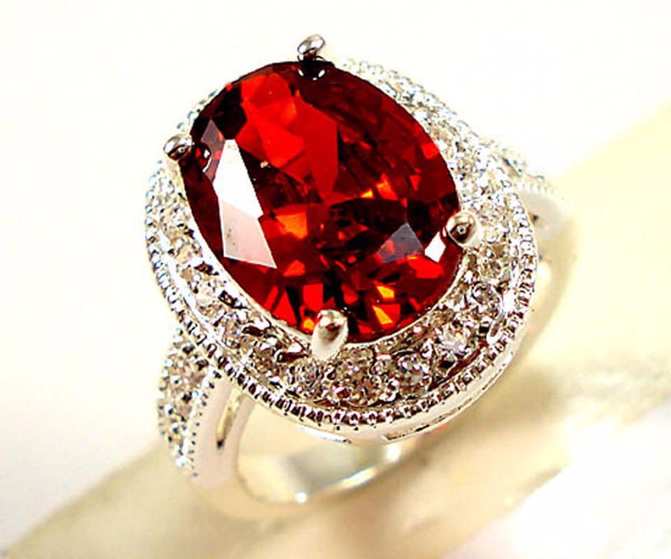 แหวนแหวนหมั้นแหวนชุดเครื่องประดับทับทิมแหวนขนาดใหญ่ zircon ringen ผู้ชายเครื่องประดับ nickles ผู้หญิง A022