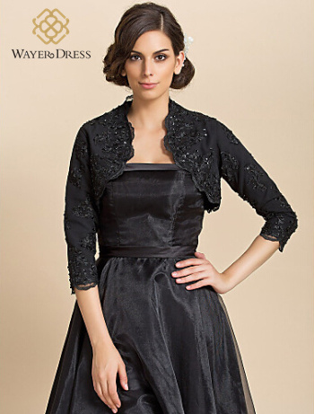 Болеро на черное вечернее платье