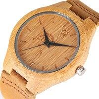 Kran/Katze/Hund Holz Uhr Frauen und Männer 2017 Bambus Quarz Uhren Sport Natürliche Holz Armbanduhren Echtes uhr Geschenke