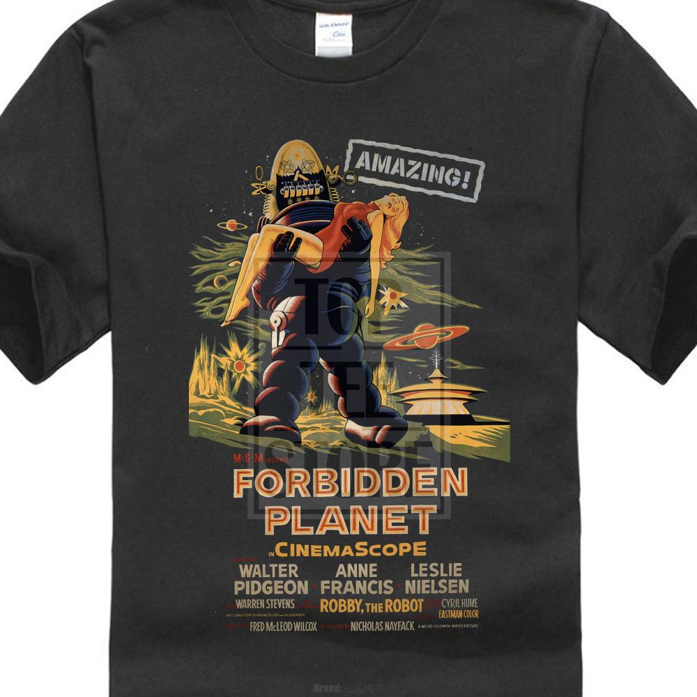 Forbidden Planet T Shirt Movie Film Vintage Retro Cult Horror