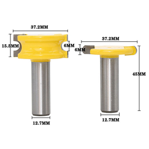 "Image 2 - 2 Pc 1/4 ""Of 1/2"" Schacht Kano Fluit En Kraal Kano Joint Router Bit Cutter Houtbewerking Bits Hout frees"