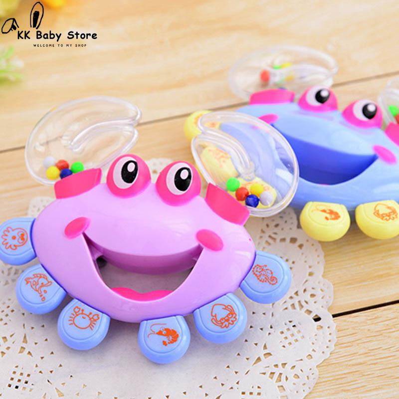 Kids Baby Rattles Toys Crab Design Hand Bell Musical Jingle Shaking Educational Toys Mobile Newborn Baby Toys