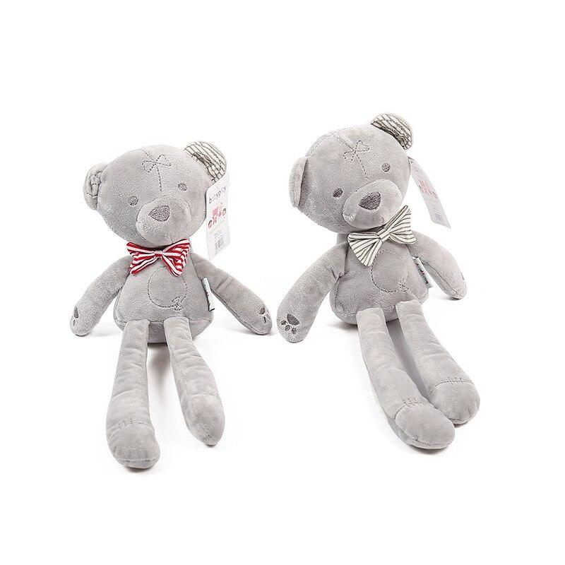 42cm Baby plush bear sleeping comfort doll plush toys Stuffed Animal Toys Smooth Obedient bearSleep Calm Doll Kid Nice Gift