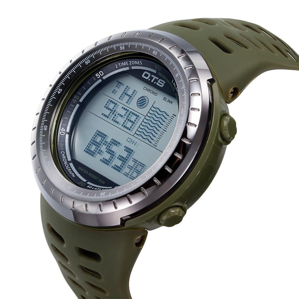 8fa31c22b7c OTS Homens Esportes Militares Relógios de Marca de Moda 50 M À Prova D   Água LED Digital Relógio dos homens Relógio de Pulso Relogio masculino  Montre