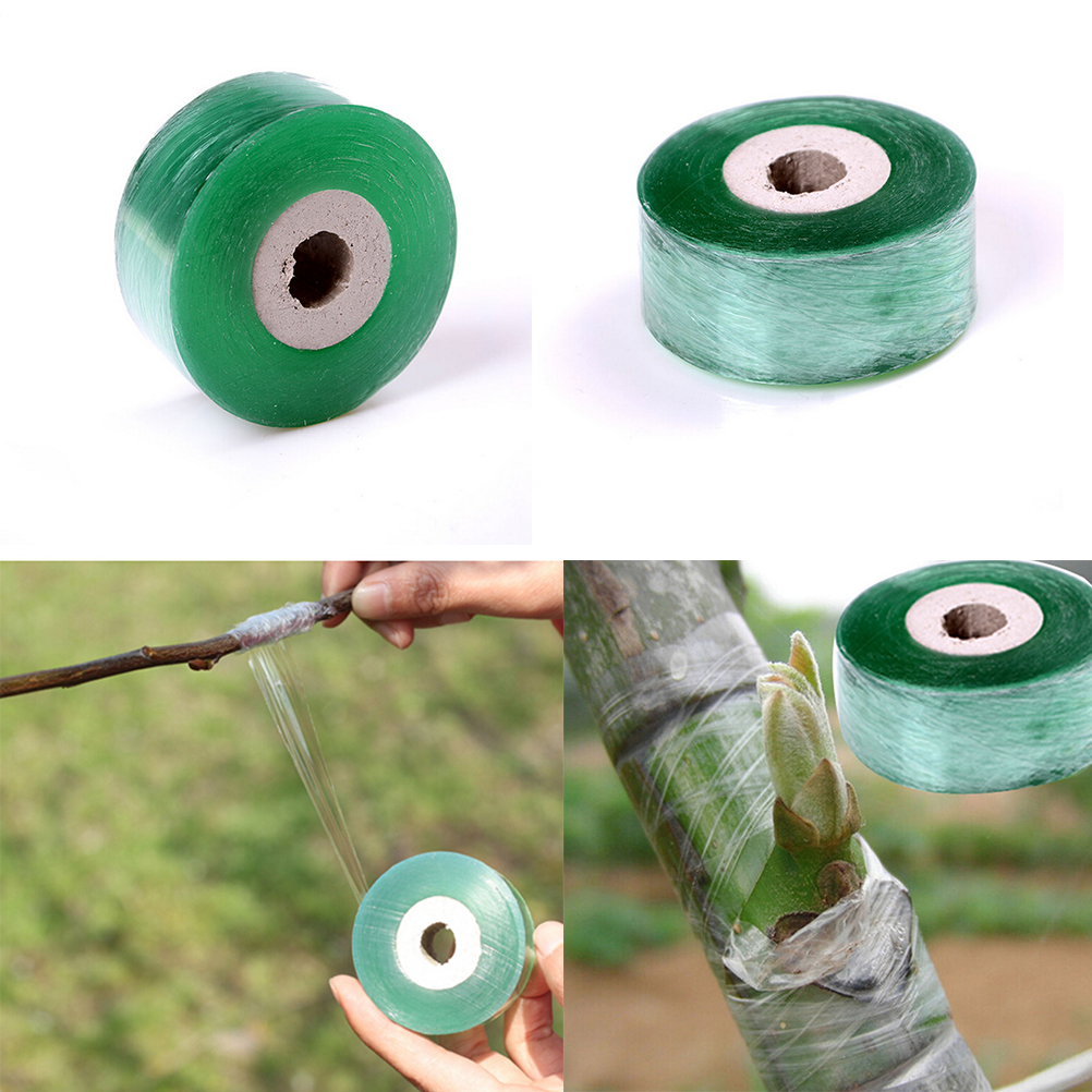 1Roll 2CM X 100M Nursery Grafting Tape Stretchable Self-adhesive Garden Flower Vegetable Grafting Tapes Supplies Plants Tools