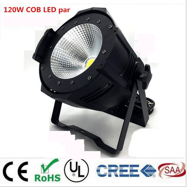 COB par light LED par 120W COB Warm White Cold white 2in1 stroboflash LED Par led spotlight dj light Dmx controll цена