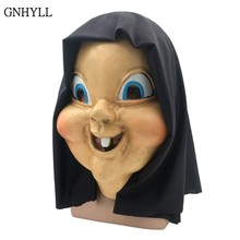 GNHYLL 2018 New Funny Scary Latex Full Head Halloween Cosplay Costume Masks Props For Party Festival Carnival Joke Mask(China)